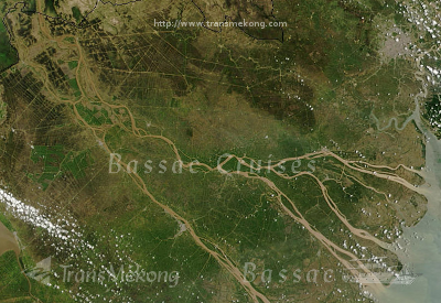 [image] Map of your cruise on the Mekong: Sadec-Caibe-Bentre-Caibe